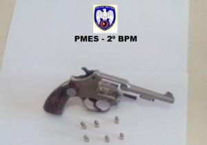 Arma apreendida pela PM
