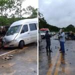 Acidente aconteceu no Km 117 da BR 101, na cidade de Sooretama